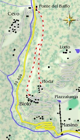 mappa di La strada dei Cincett (seconda puntata)