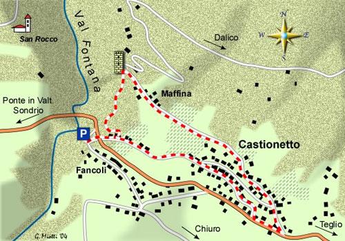mappa di La Torre di Castionetto