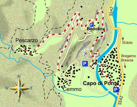 mappa di Sulle orme dei camuni