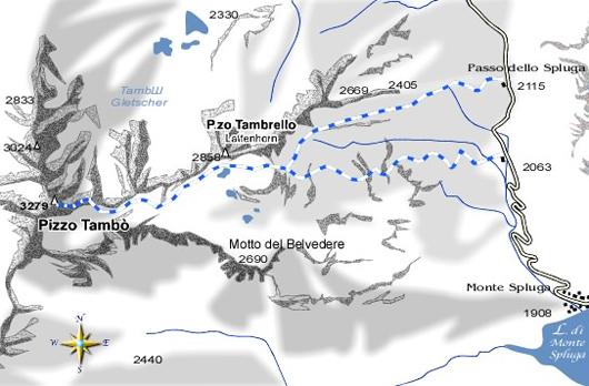 mappa di Pizzo Tambò