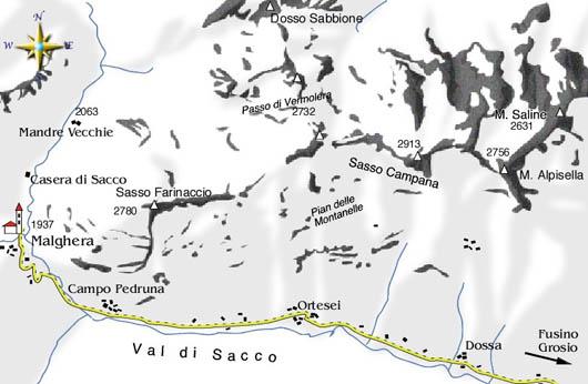 mappa di Val di Sacco