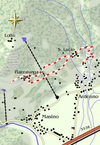 mappa di La strada dei Cincett (prima puntata)