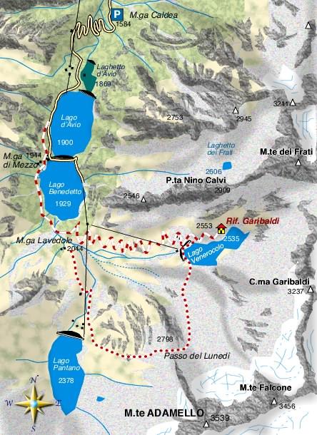 mappa di Piccolo trekking in Val d'Avio