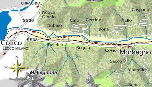 mappa di Colico-Morbegno