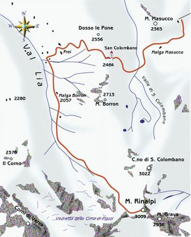 mappa di Monte Rinalpi