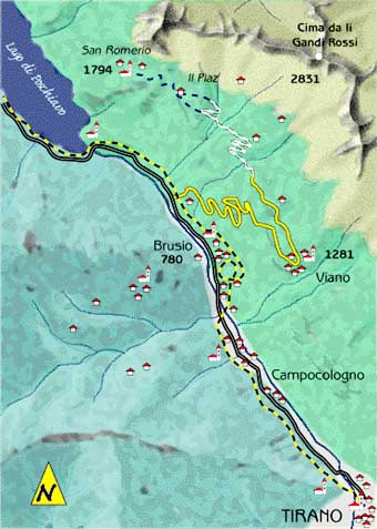 mappa di Lo Xenodochio di San Romedio: sospesi sull'abisso