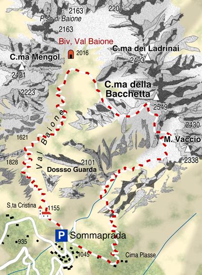 mappa di La selvaggia e avventurosa Concarena
