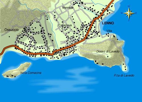 mappa di La Villa del Balbianello ed il suo Signore