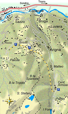 mappa di La decauville da Briotti alla centrale dell'Armisa in Val d'Arigna