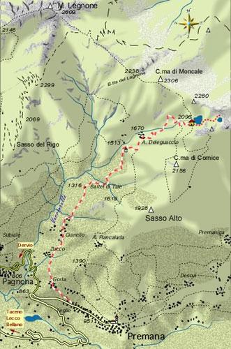 mappa di Laghi di Deleguaccio