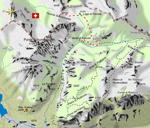 mappa di Solitaria Forcola Schumbraida