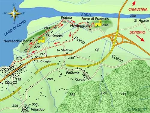mappa di Una gita al Forte di Fuentes e al Forte Lusardi