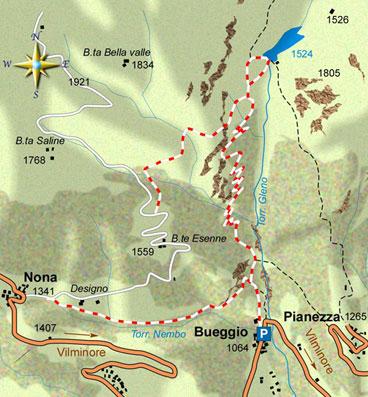 mappa di Per non dimenticare: la diga del Gleno