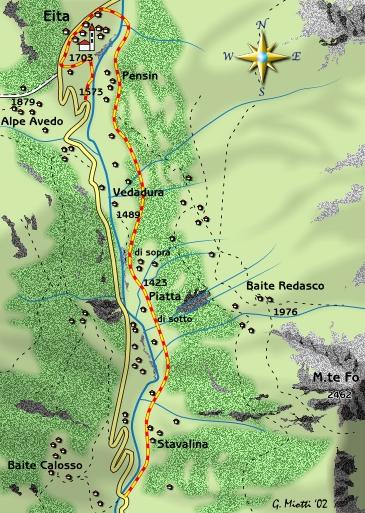 mappa di Un angolo poco noto della Val Grosina