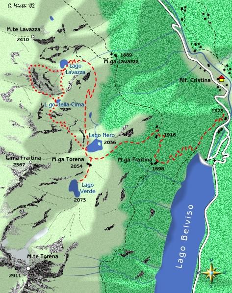 mappa di Il giro dei Laghi di Torena