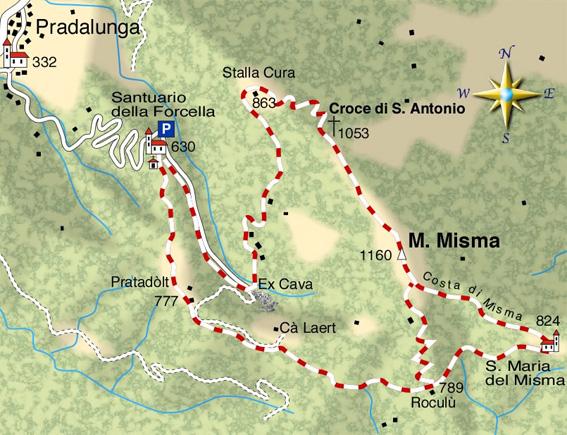 mappa di Il magnifico Monte Misma e la sua magica pietra