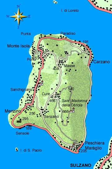 mappa di Piccola Grande Monte Isola