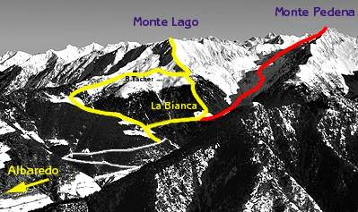 mappa di Monte Lago