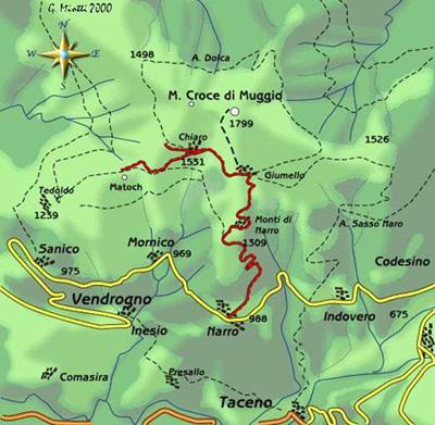 mappa di Il Monte Muggio