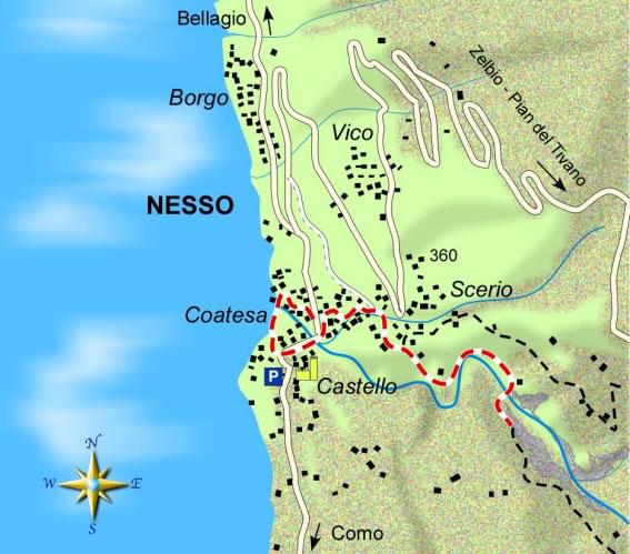 mappa di I ponti di Nesso