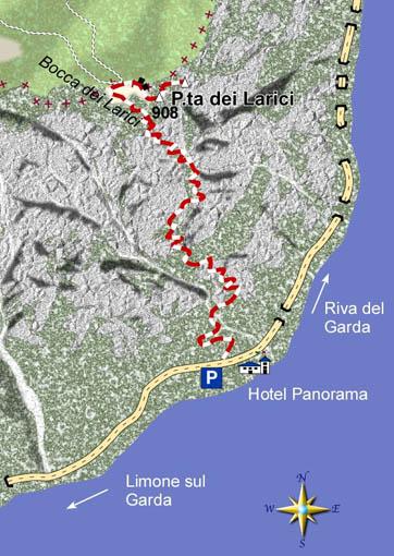 mappa di La Punta dei Larici, balcone panoramico fra Lombardia e Trentino
