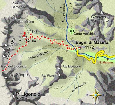 mappa di La Valle dell'Oro