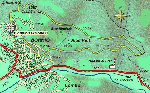 mappa di La Pedemontana della Reit
