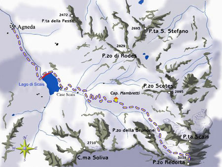mappa di Pizzo Redorta