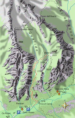 mappa di Alla ricerca della stalla ovale