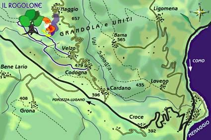 """mappa di Una gita al """"Rogolone"""""""