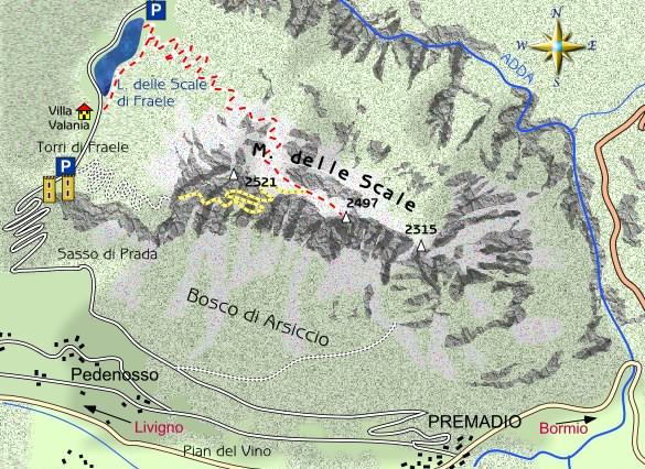 Scale Delle Mappe il Monte Delle Scale al