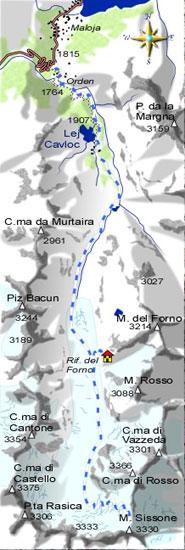mappa di Monte Sissone