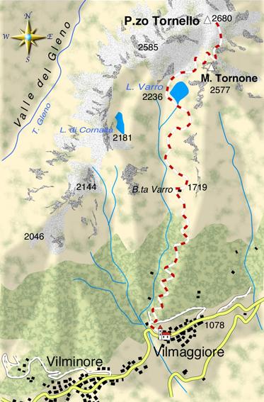 mappa di Il Pizzo Tornello