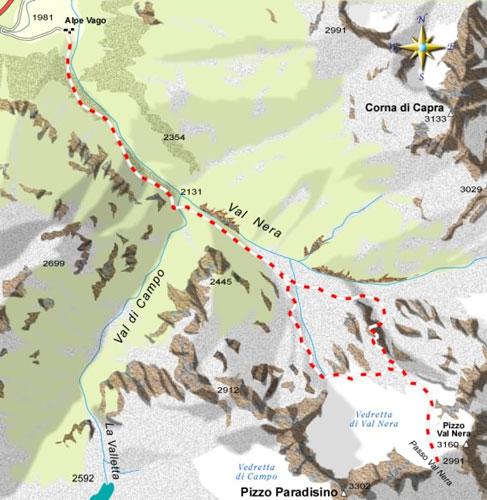 mappa di Il Passo di Val Nera