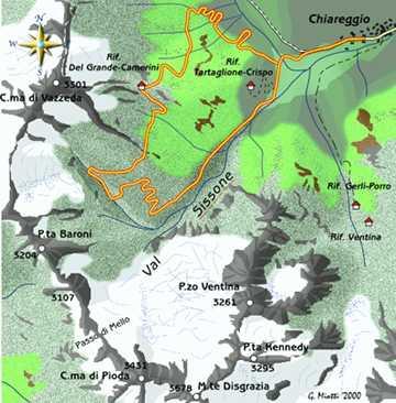 mappa di Val Sissone