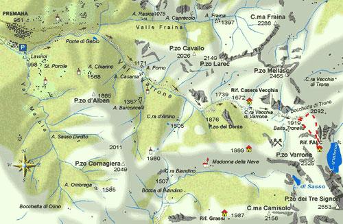 mappa di Alta Valvarrone