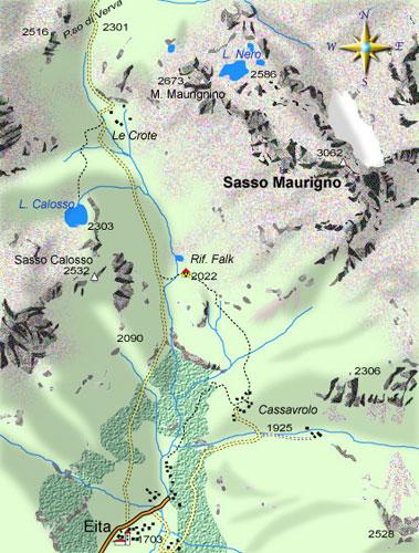 mappa di Al Passo di Verva e al Lago Calosso