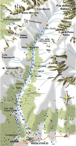 mappa di Grandiosa ancestrale Val Grande