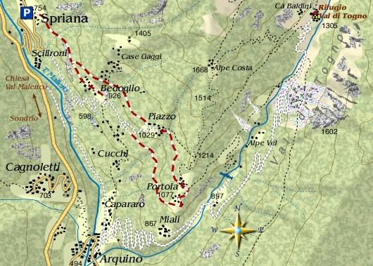 mappa di Alle porte della Valmalenco