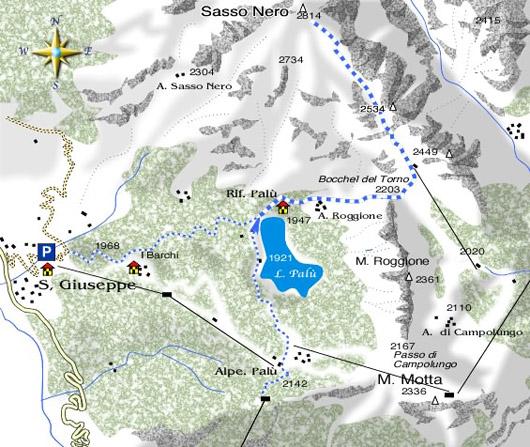mappa di Sasso Nero