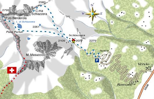 mappa di Cima Schiazzera / Pizzo Banderola